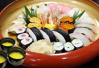 花にびり 特上寿司盛り合わせ