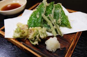 葉わさび ふきのとうの天ぷら